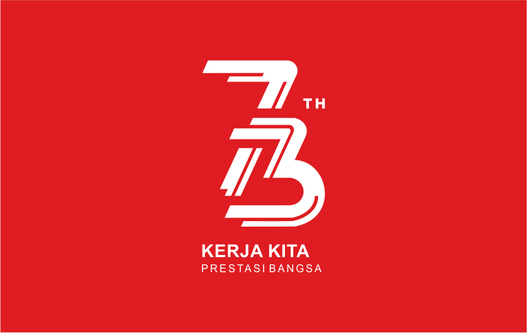 Logo HUT RI Ke 73 Vector
