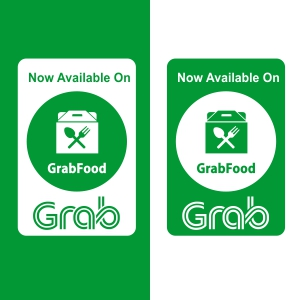 Label dan Logo Grab Food Vector