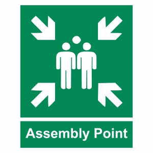 Assembly point sign Vector, PNG & JPEG
